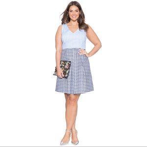 Eloquii Contrasting Plaid Dress size 20.